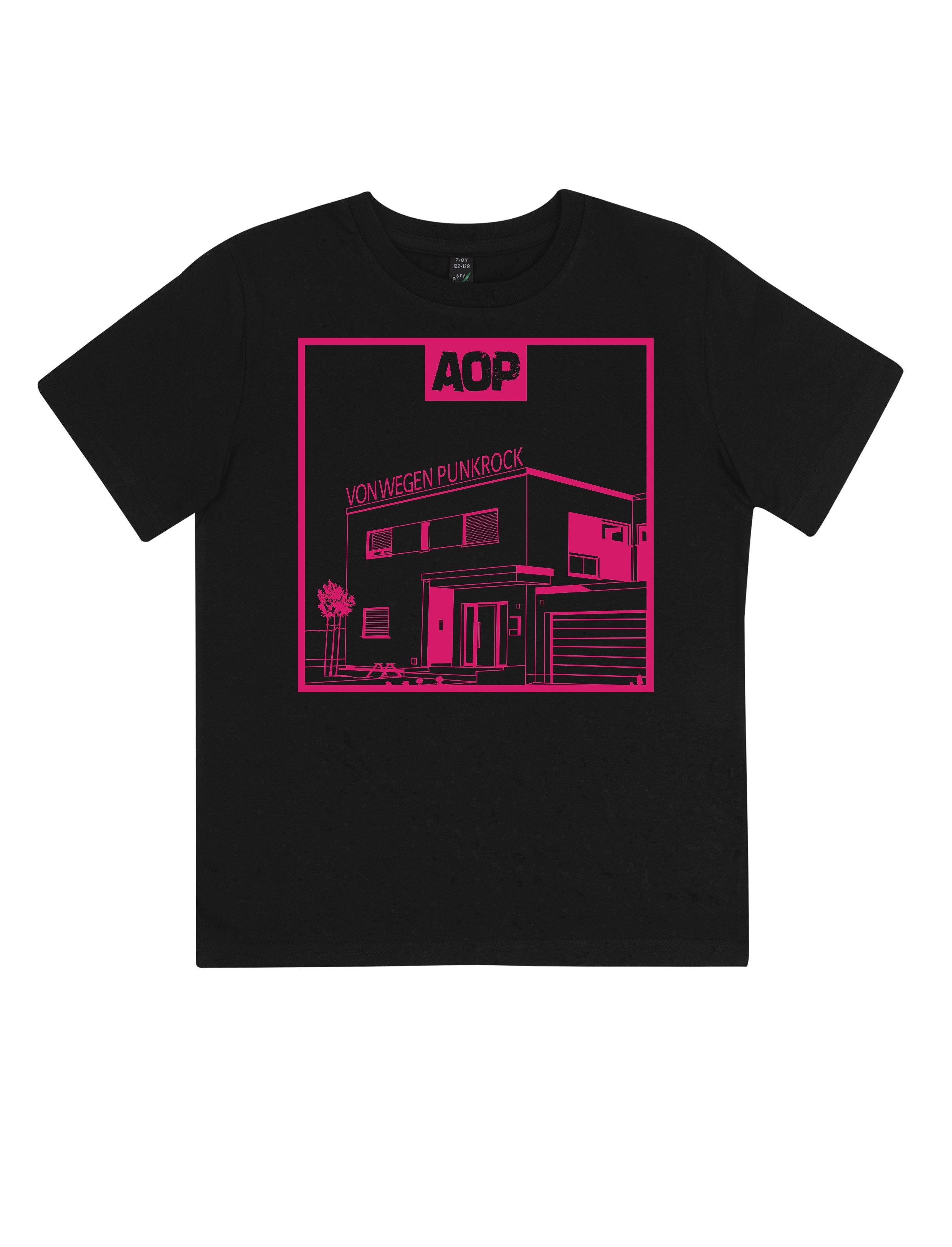AOP – Von wegen Punkrock – Kids-Shirt (schwarz)