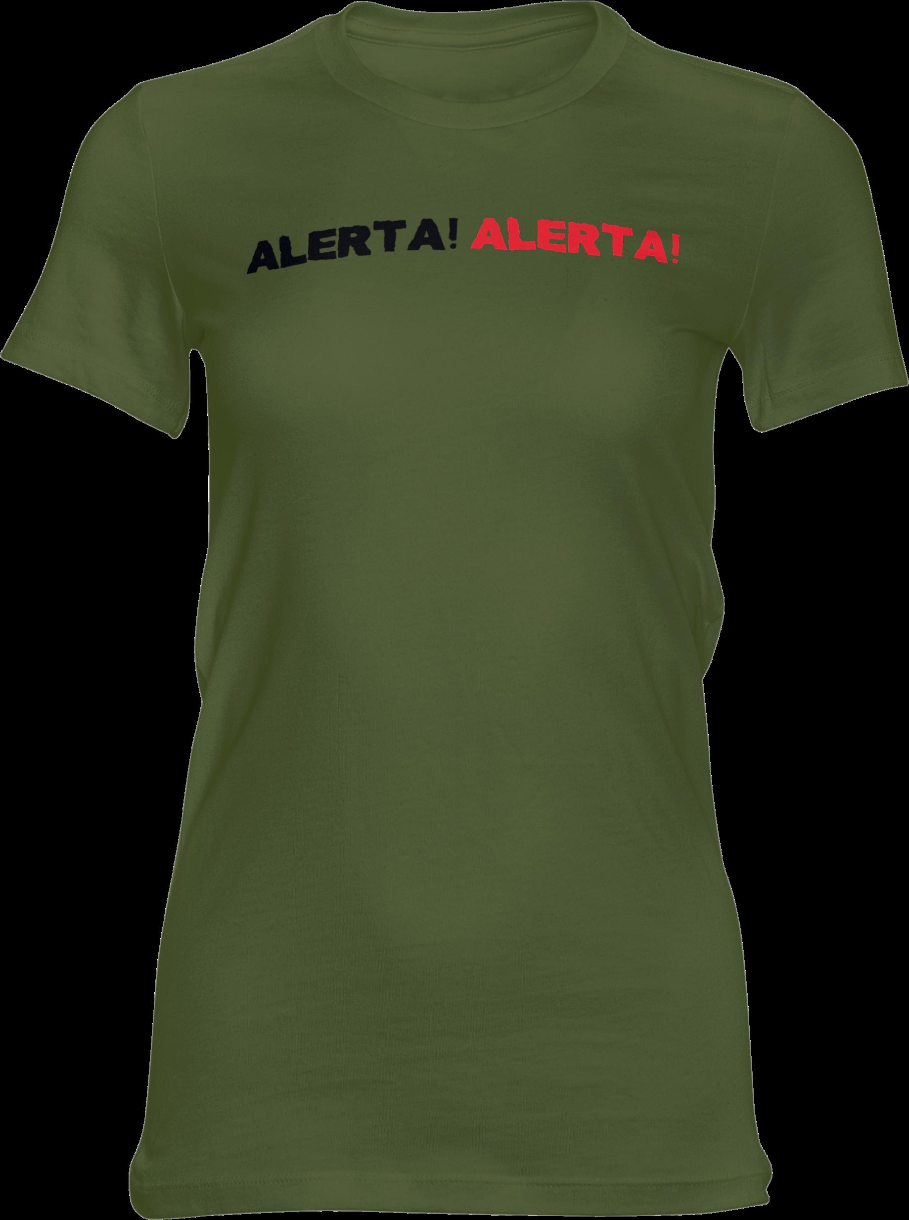 Motiv-Shirt – Alerta Alerta – Girlie-Shirt (grün)