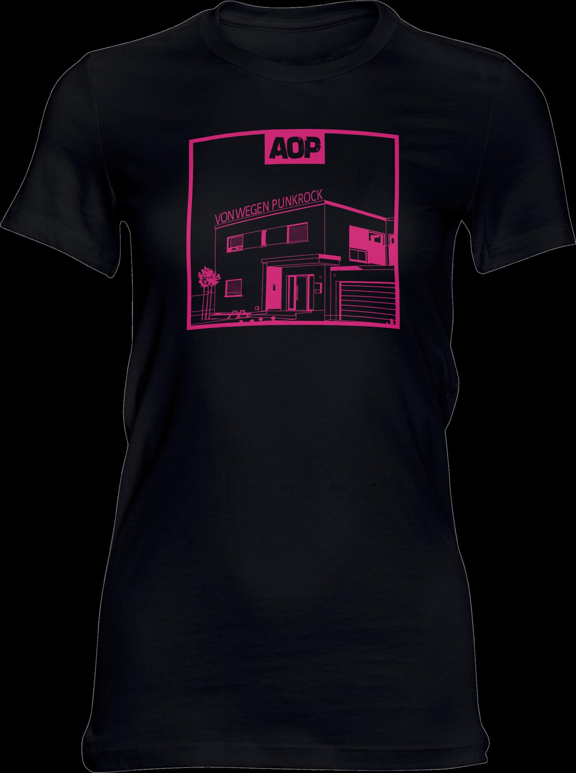 AOP – Von wegen Punkrock – Girlie-Shirt (schwarz)
