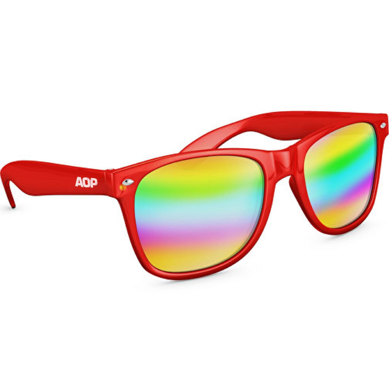 AOP – Sonnenbrille AOP Logo – rot