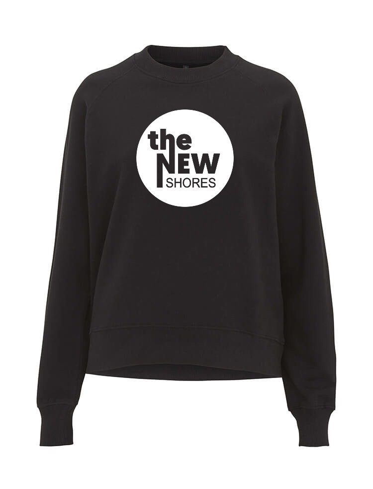 The New Shores – TNS Logo – Sweatshirt-Girlie (schwarz)