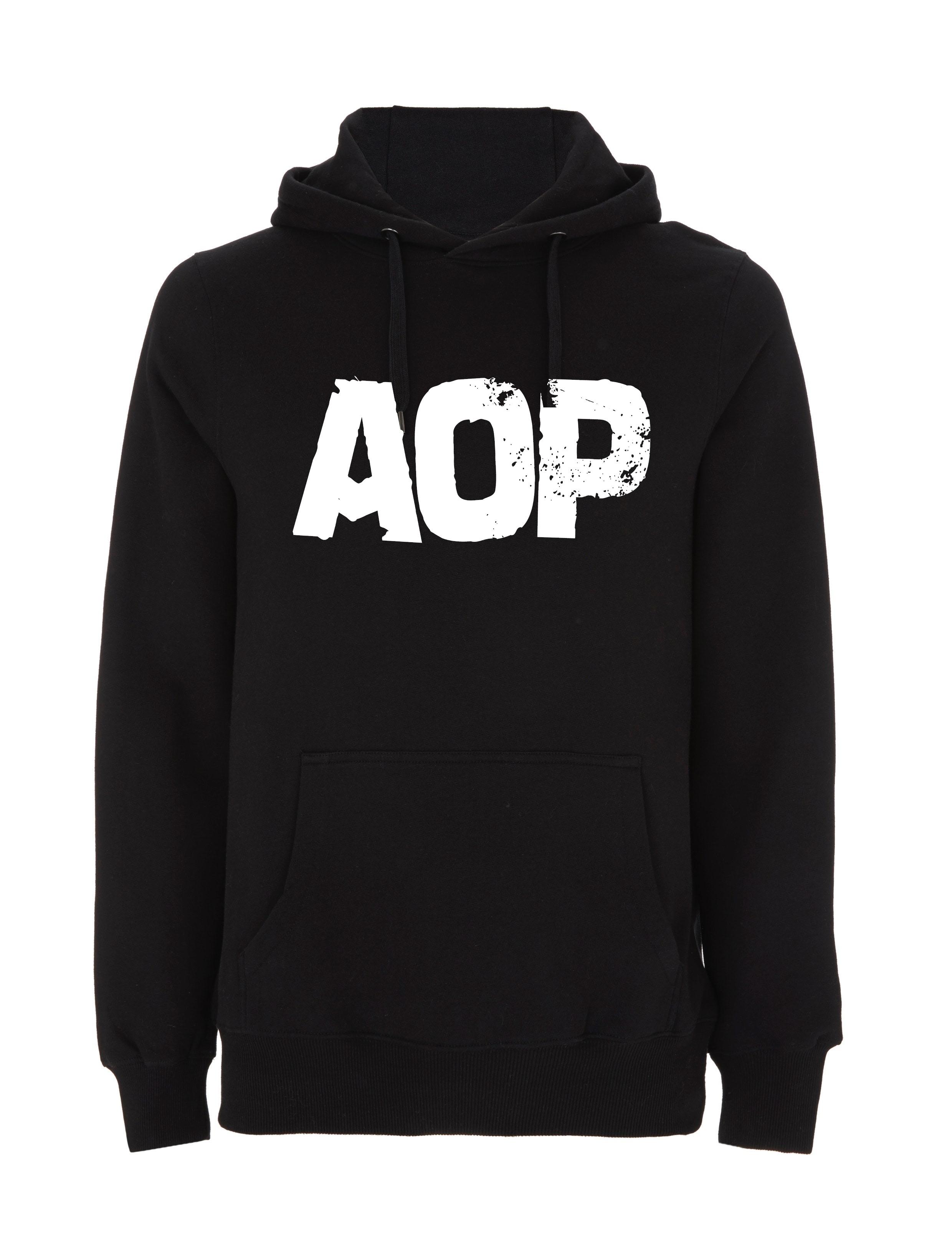 AOP – AOP Logo – Hoodie (schwarz)