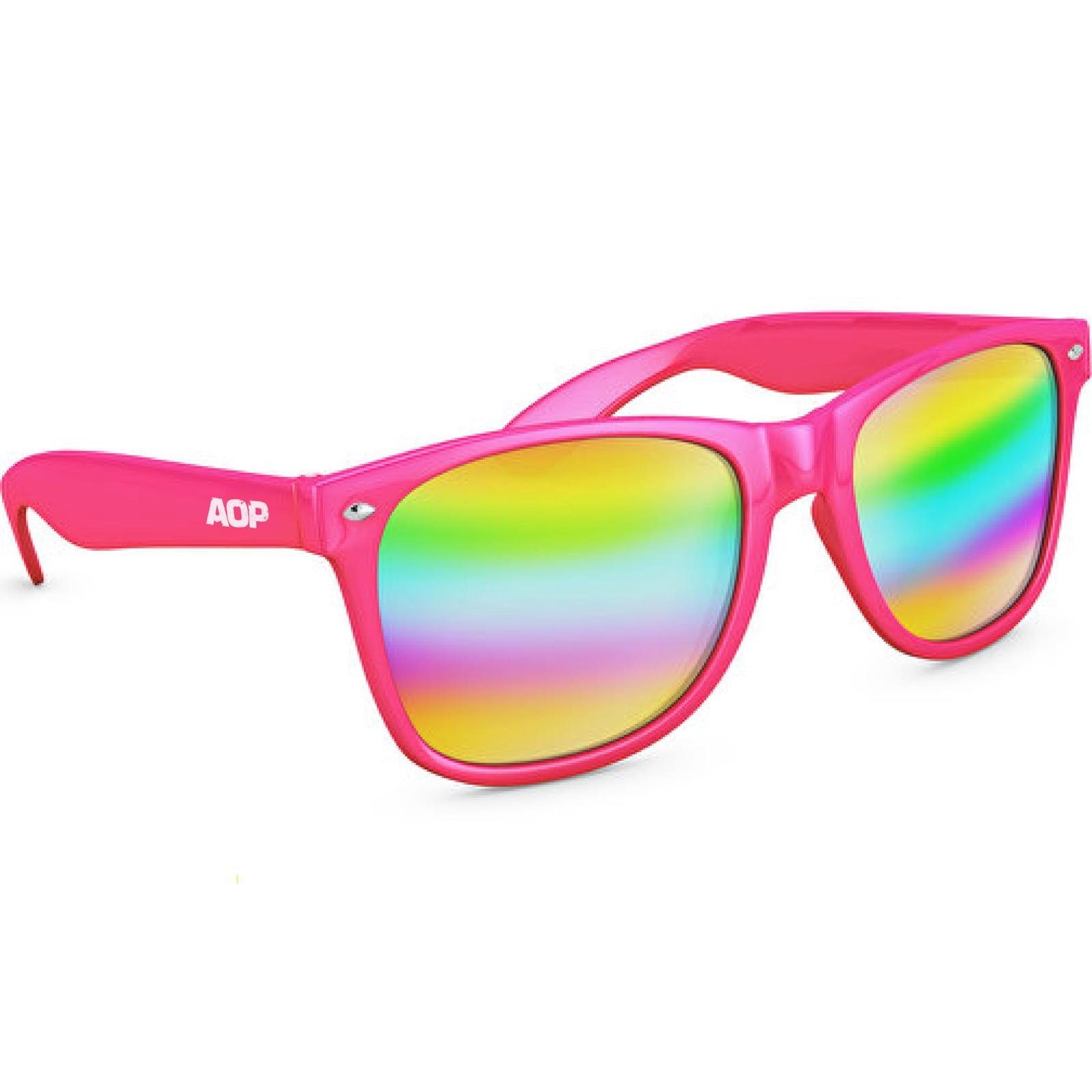 AOP – Sonnenbrille AOP Logo – pink